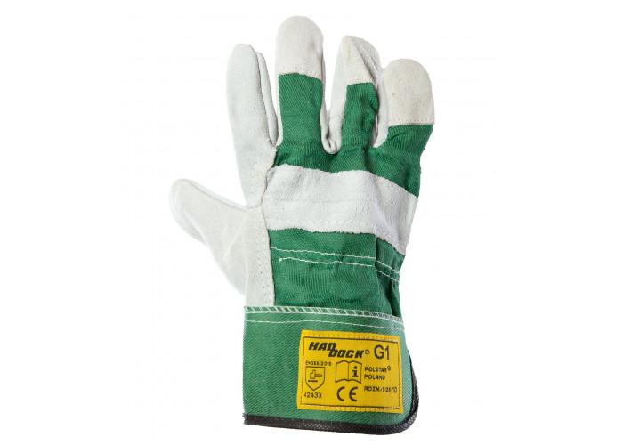 Перчатки рабочие HADDOCK G1 зеленые