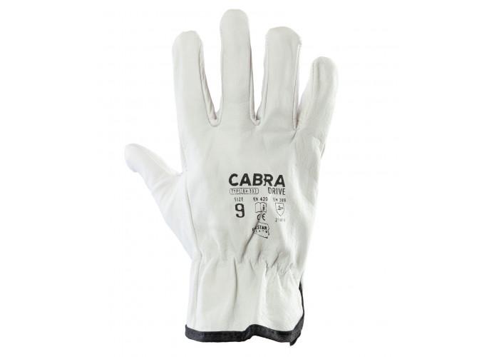 Перчатки рабочие кожаные CABRA